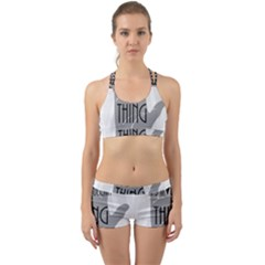Vulcan Thing Back Web Sports Bra Set