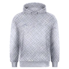 Woven2 White Marble & Silver Glitter (r) Men s Overhead Hoodie