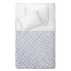Woven2 White Marble & Silver Glitter Duvet Cover (single Size) by trendistuff