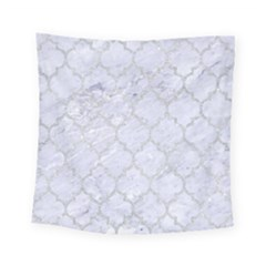 Tile1 White Marble & Silver Glitter (r) Square Tapestry (small) by trendistuff