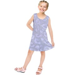 Skin5 White Marble & Silver Glitter (r) Kids  Tunic Dress