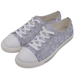Skin5 White Marble & Silver Glitter (r) Women s Low Top Canvas Sneakers by trendistuff