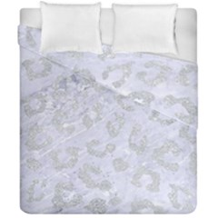 Skin5 White Marble & Silver Glitter Duvet Cover Double Side (california King Size) by trendistuff
