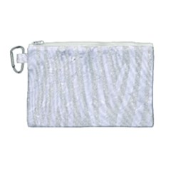 Skin4 White Marble & Silver Glitter (r) Canvas Cosmetic Bag (large) by trendistuff