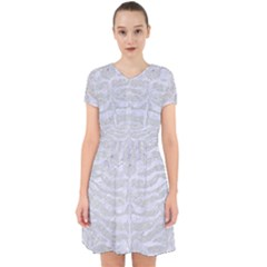 Skin2 White Marble & Silver Glitter Adorable In Chiffon Dress