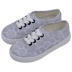 Skin1 White Marble & Silver Glitter (r) Kids  Classic Low Top Sneakers by trendistuff