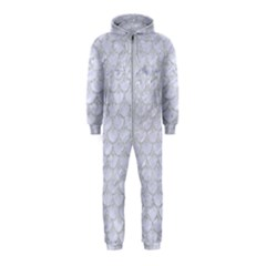 Scales3 White Marble & Silver Glitter (r) Hooded Jumpsuit (kids) by trendistuff