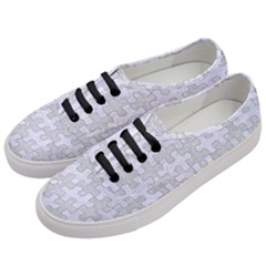Puzzle1 White Marble & Silver Glitter Women s Classic Low Top Sneakers by trendistuff
