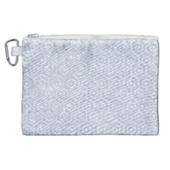 Hexagon1 White Marble & Silver Glitter Canvas Cosmetic Bag (xl) by trendistuff