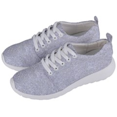 Damask2 White Marble & Silver Glitter (r) Men s Lightweight Sports Shoes by trendistuff