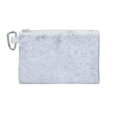 Damask2 White Marble & Silver Glitter Canvas Cosmetic Bag (medium) by trendistuff