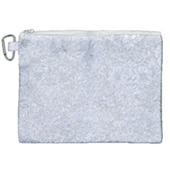Damask2 White Marble & Silver Glitter Canvas Cosmetic Bag (xxl) by trendistuff