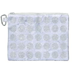 Circles1 White Marble & Silver Glitter (r) Canvas Cosmetic Bag (xxl) by trendistuff