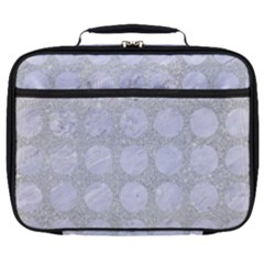 Circles1 White Marble & Silver Glitter Full Print Lunch Bag by trendistuff