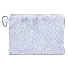 Brick2 White Marble & Silver Glitter (r) Canvas Cosmetic Bag (xl) by trendistuff