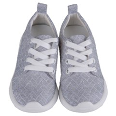 Brick2 White Marble & Silver Glitter Kids  Lightweight Sports Shoes