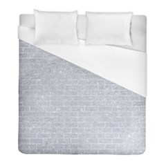 Brick1 White Marble & Silver Glitter Duvet Cover (full/ Double Size) by trendistuff
