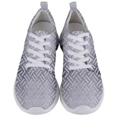 Woven2 White Marble & Silver Brushed Metal Men s Lightweight Sports Shoes