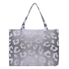 Skin5 White Marble & Silver Brushed Metal (r) Medium Tote Bag