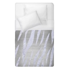 Skin3 White Marble & Silver Brushed Metal Duvet Cover (single Size) by trendistuff