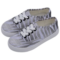 Skin3 White Marble & Silver Brushed Metal Kids  Classic Low Top Sneakers by trendistuff