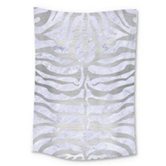 Skin2 White Marble & Silver Brushed Metal (r) Large Tapestry by trendistuff