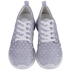 Scales2 White Marble & Silver Brushed Metal (r) Men s Lightweight Sports Shoes
