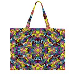Pattern-12 Zipper Large Tote Bag