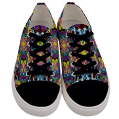 Pattern 12 Men s Low Top Canvas Sneakers