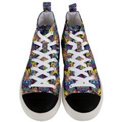 Pattern 12 Men s Mid Top Canvas Sneakers