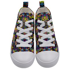Pattern 12 Kid s Mid Top Canvas Sneakers