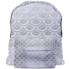 Scales2 White Marble & Silver Brushed Metal Giant Full Print Backpack