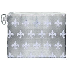 Royal1 White Marble & Silver Brushed Metal (r) Canvas Cosmetic Bag (xxl) by trendistuff
