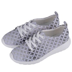 Circles3 White Marble & Silver Brushed Metal Women s Lightweight Sports Shoes by trendistuff