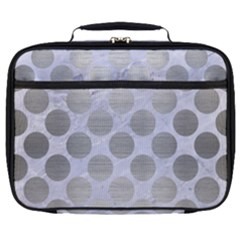 Circles2 White Marble & Silver Brushed Metal (r) Full Print Lunch Bag by trendistuff