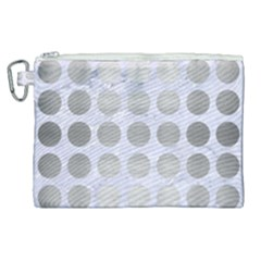 Circles1 White Marble & Silver Brushed Metal (r) Canvas Cosmetic Bag (xl) by trendistuff