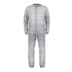 Brick2 White Marble & Silver Brushed Metal Onepiece Jumpsuit (kids) by trendistuff