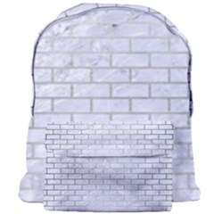 Brick1 White Marble & Silver Brushed Metal (r) Giant Full Print Backpack by trendistuff