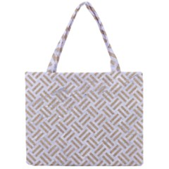 Woven2 White Marble & Sand (r) Mini Tote Bag by trendistuff