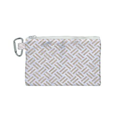 Woven2 White Marble & Sand (r) Canvas Cosmetic Bag (small) by trendistuff