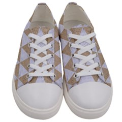 Triangle3 White Marble & Sand Women s Low Top Canvas Sneakers