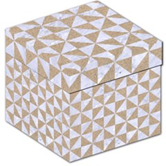Triangle1 White Marble & Sand Storage Stool 12   by trendistuff