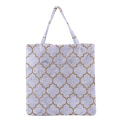 Tile1 White Marble & Sand (r) Grocery Tote Bag by trendistuff