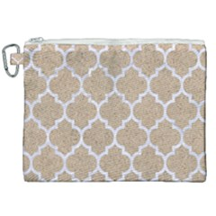 Tile1 White Marble & Sand Canvas Cosmetic Bag (xxl) by trendistuff