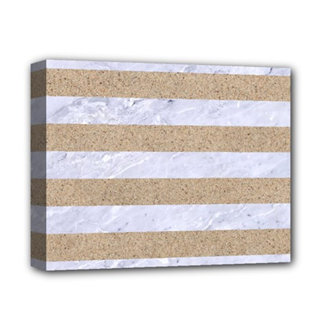 Stripes2white Marble & Sand Deluxe Canvas 14  X 11  by trendistuff