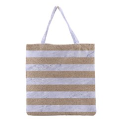 Stripes2white Marble & Sand Grocery Tote Bag by trendistuff