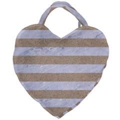 Stripes2white Marble & Sand Giant Heart Shaped Tote by trendistuff