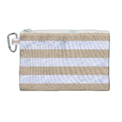 Stripes2white Marble & Sand Canvas Cosmetic Bag (large) by trendistuff