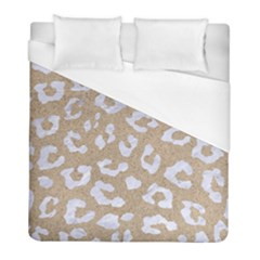 Skin5 White Marble & Sand (r) Duvet Cover (full/ Double Size) by trendistuff