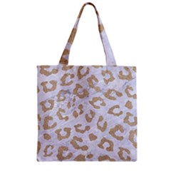 Skin5 White Marble & Sand Zipper Grocery Tote Bag by trendistuff